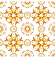 Floral mandala seamless pattern vector image
