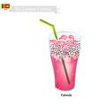 Falooda One of Famous Beverage in Sri Lanka vector image