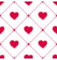 gentle seamless pattern with hand-drawn hearts vector image