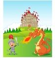 Knight princess and dragon vector image