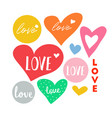 love heart doodle vector image