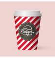 quality realistic isolated paper coffee cup vector image