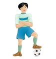 Soccer player of the South-East Asia pose a winner vector image