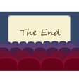 Movie theater and movie screen vector image