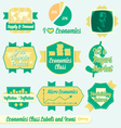 Vintage Economics Class Labels and Icons vector image
