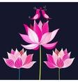 lovers pink birds vector image vector image