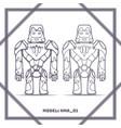 Robot mode number hma 01 black vector image