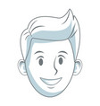 young guy smiling character people vector image