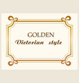 golden frame luxury victorian style floral border vector image vector image