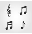 Music notes icons set flat design vector image vector image