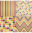 Seamless stripes zig zag and polka dots vector image