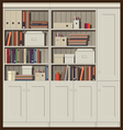 bookcase vector image