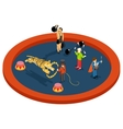 Isometric 3d circus characters Animal trainer vector image