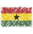 Ghanaian grunge flag vector image