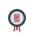 Presidents Day Sale realistic Emblem with Ribbon vector image