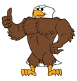Strong eagle thumb up gesture vector image