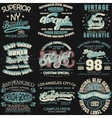 Denim typography t-shirt graphics vector image