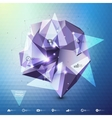 Abstract dimensional polygonal geometric vector image