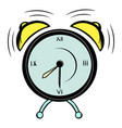 alarm clock icon cartoon vector image