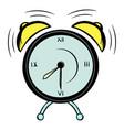 alarm clock icon cartoon vector image