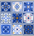 ceramic tiles vintage patterns spanish vector image