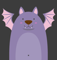 cute big fat bat vector image