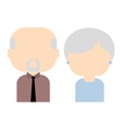 Happy old couple flat vector image