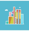Modern Buildings Isolated on Blue Background vector image