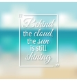 positive inspiration quote poster blurred vector image