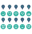 Smiles map markers icons vector image