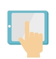 tablet technology digital icon design vector image