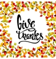 Frame from yellow autumn leaves with lettering vector image