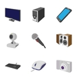 Electronic devices icons set cartoon style vector image vector image