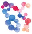 watercolor dots vector image