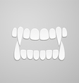 Jaw with canines vector image vector image