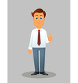 businessman on a white background vector image