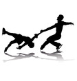 athletes skaters vector image vector image