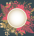 Decorative frame with flowers and herbs vector image