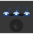 Icon of the year of the monkey design vector image