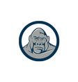 Angry Gorilla Head Circle Cartoon vector image