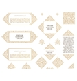 Arabic set of frames lines art design vector image vector image