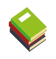books stacks education icon graphic vector image