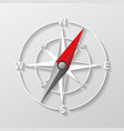 compass arrow object isolated 3d navigation and vector image