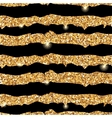 Gold glitter texture with strips vector image