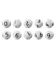 lotto bingo grey balls with numbers vector image