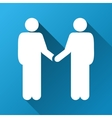 Person Handshake Gradient Square Icon vector image