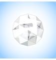 Realistic diamond jewel shaped Gem vector image