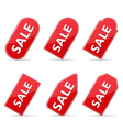 Red Price Tags for Sale vector image