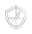 security shield with check icon vector image
