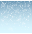 White falling flakes of snow vector image vector image